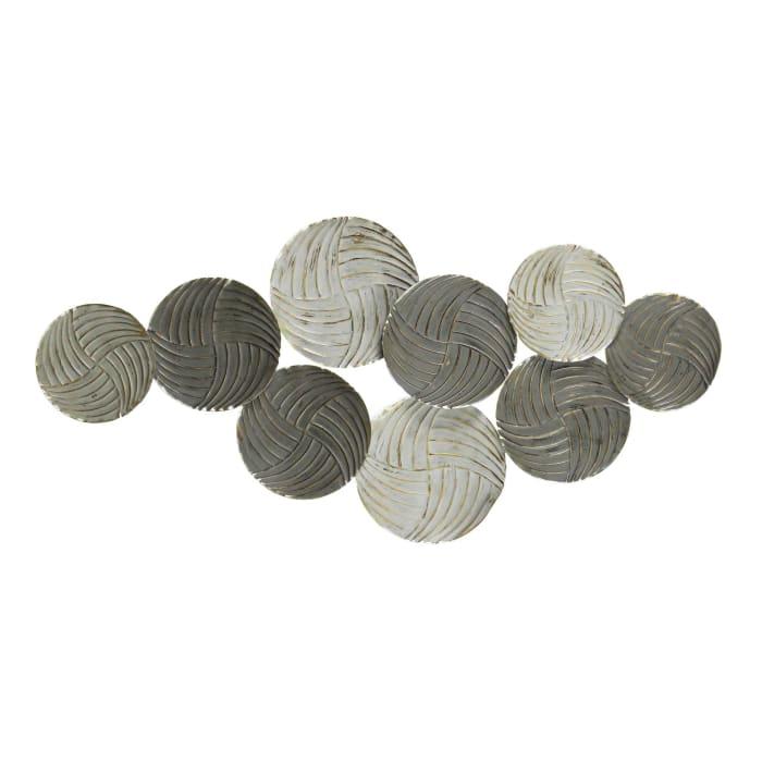 Distressed Finish Plates Metallic Wall Decor