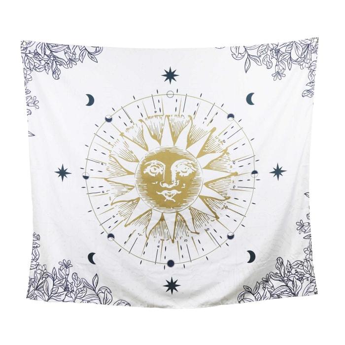 Sun Moon and Stars Celestial Tapesty Wall Décor