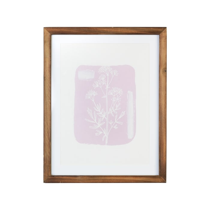 Pink and White Botanical Flower Framed Wall Art