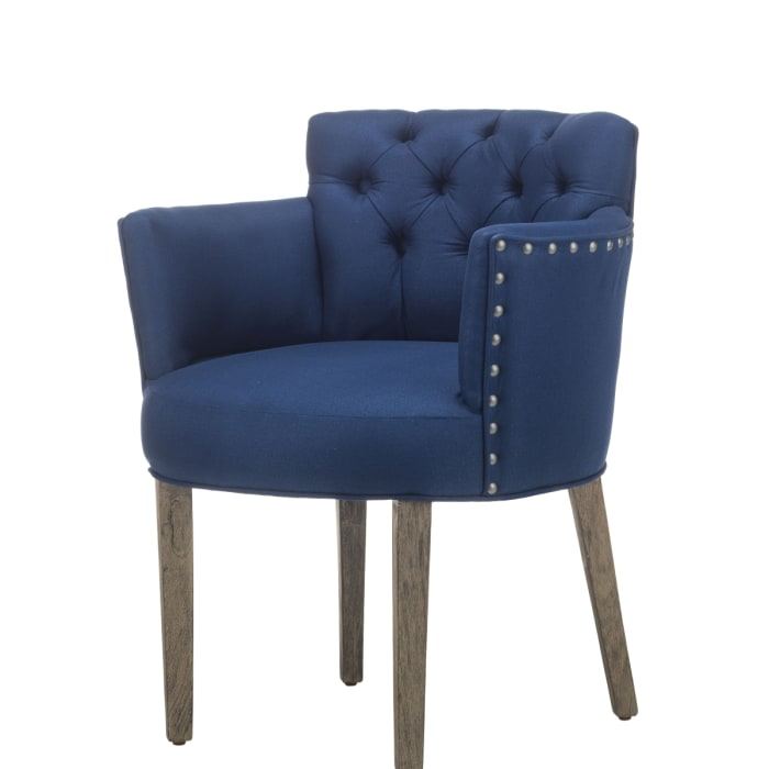 Navy Solid Wood Dining Chair