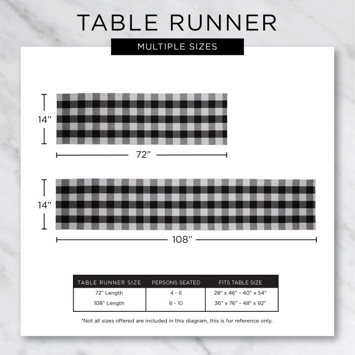 Stone Farmhouse Gingham Table Runner