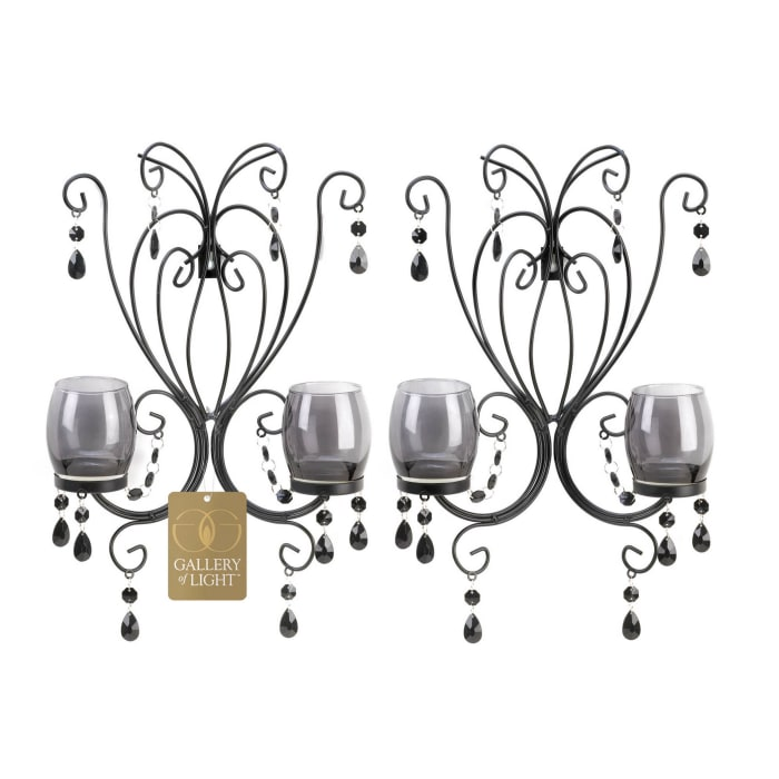 Midnight Elegance Candle Wall Sconces