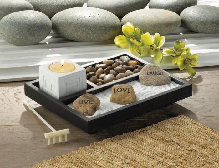 Live Love Laugh Zen Rock Garden