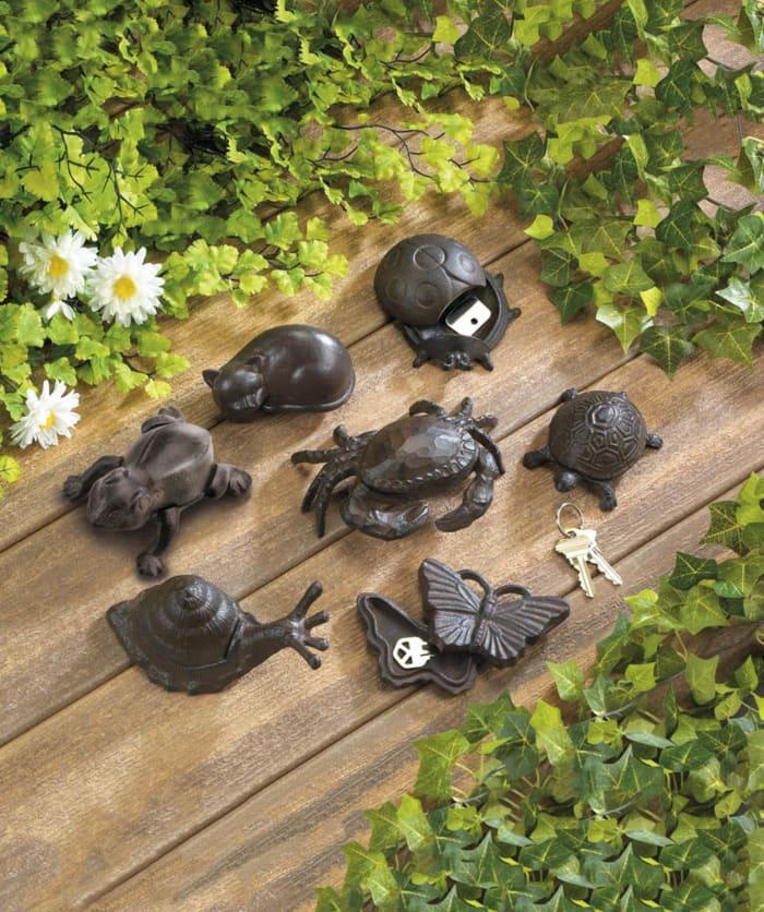Secure Cast Iron Garden Snail Secret Key Holder