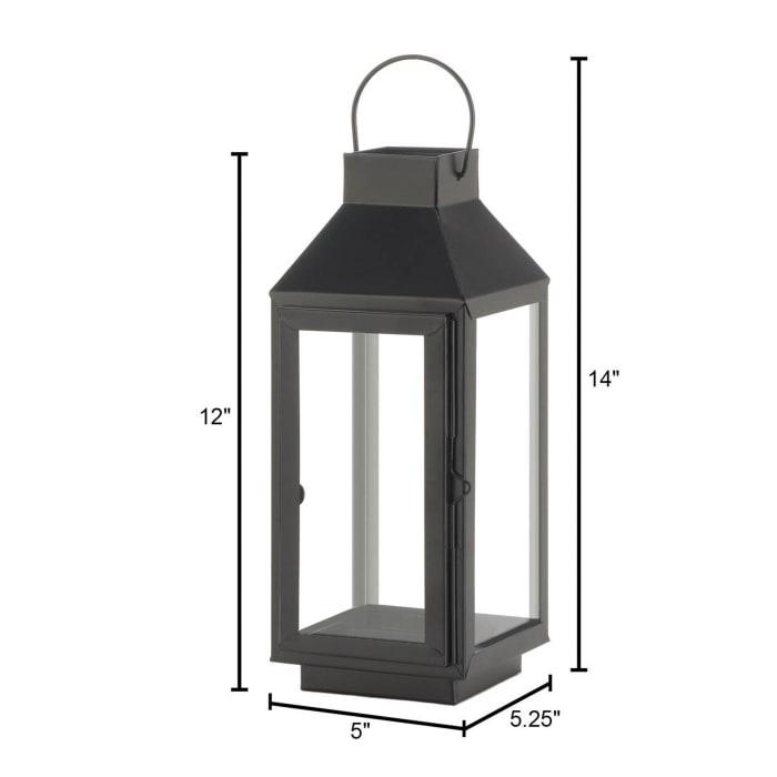 Medium Square Top Black Lantern