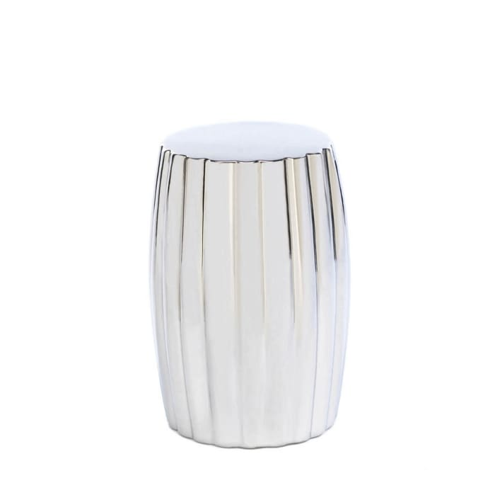 Silver Decorative Stool
