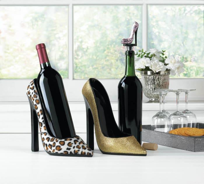 Glitter Shoe Wine Bottle Stopper