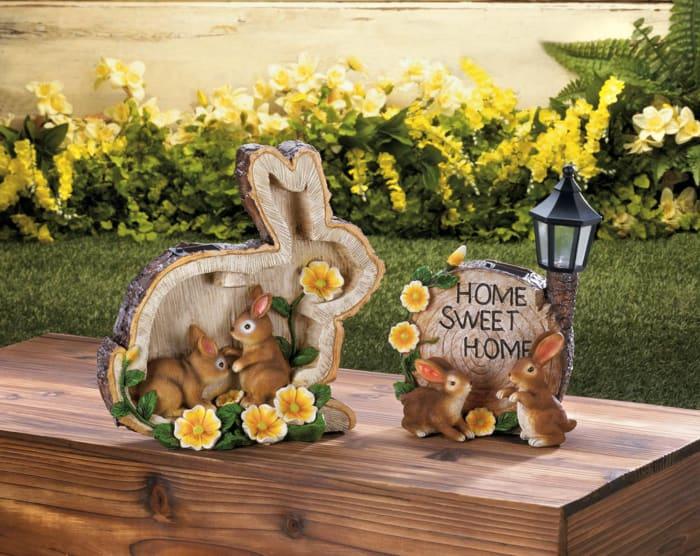 Solar Home Sweet Home Bunnies