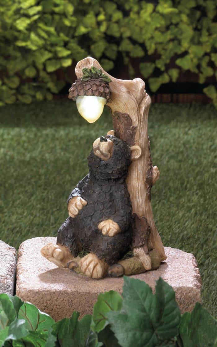 Black Bear Solar Statue