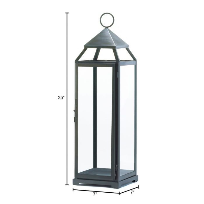 Brushed Silver Extra Tall Lantern