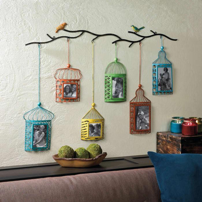 Birdcage Photo Frame Decor