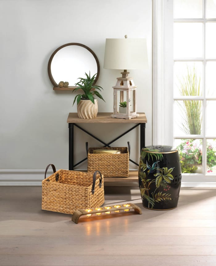 Wicker Storage Basket Set of 2