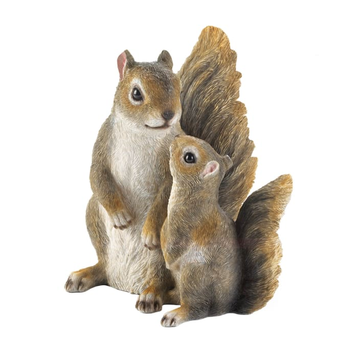 Mommy and Me Squirrel Figurine