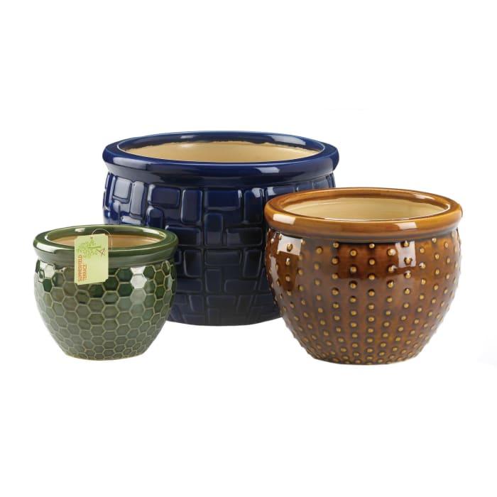 Designer Trio Ceramic Pot Set of 3