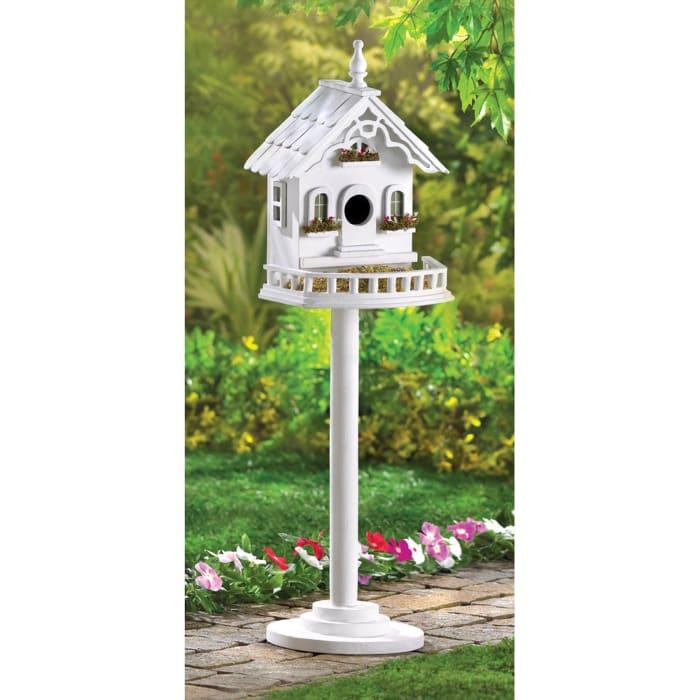 Freestanding Elegant Victorian Birdhouse