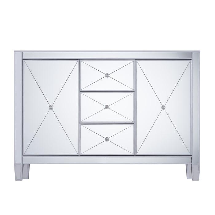 Montage 3-Drawer Mirrored Cabinet