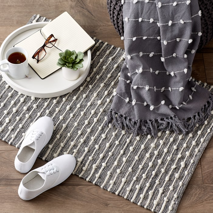 Mineral  Recycled Cotton Loop Gray Rug
