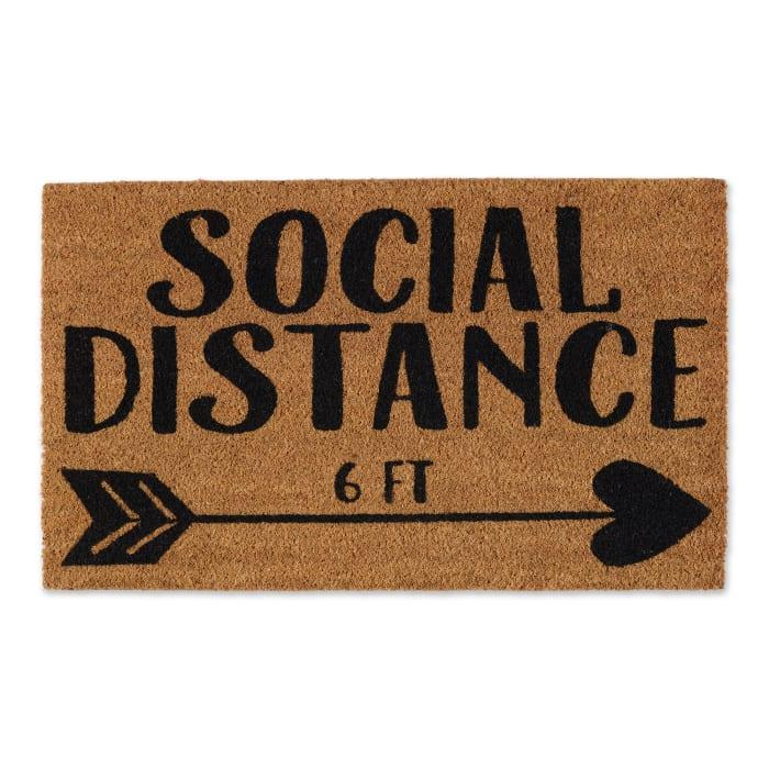 Social Distance 6ft Doormat