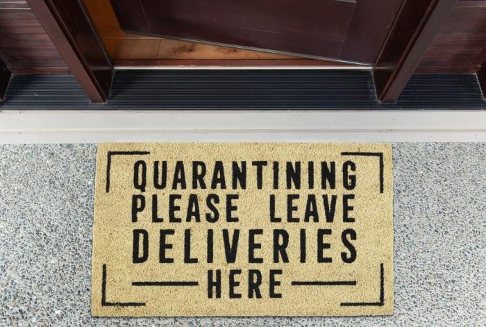 Quarantining Deliveries Here Doormat