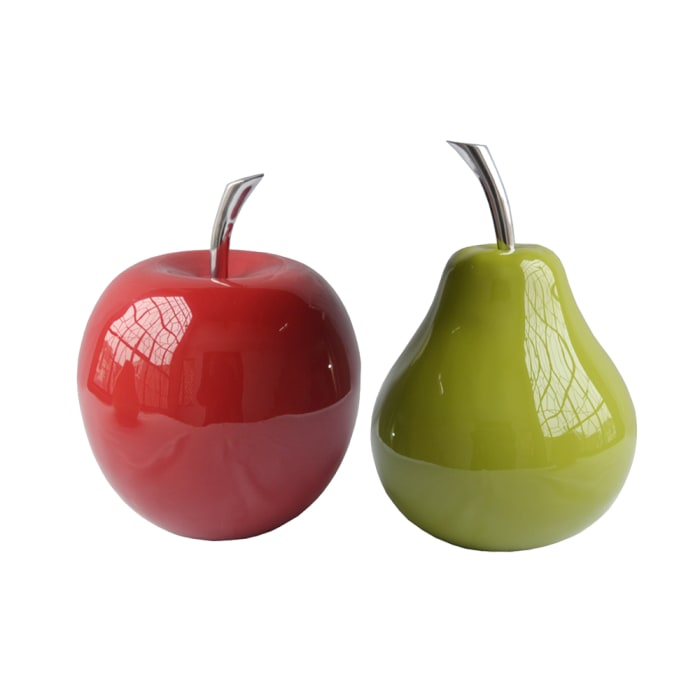 Buffed Red Extra Large Apple Sculpture