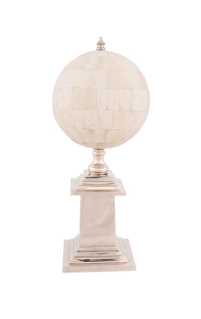 Bone Globe With Aluminum Base
