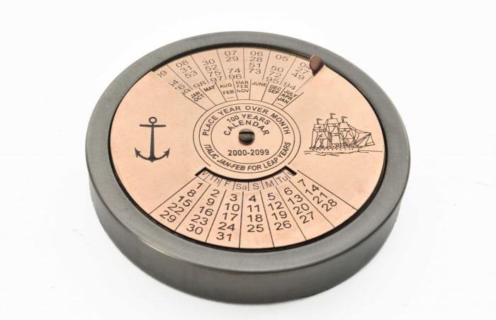 100 Year Calendar and Compass Set Accent