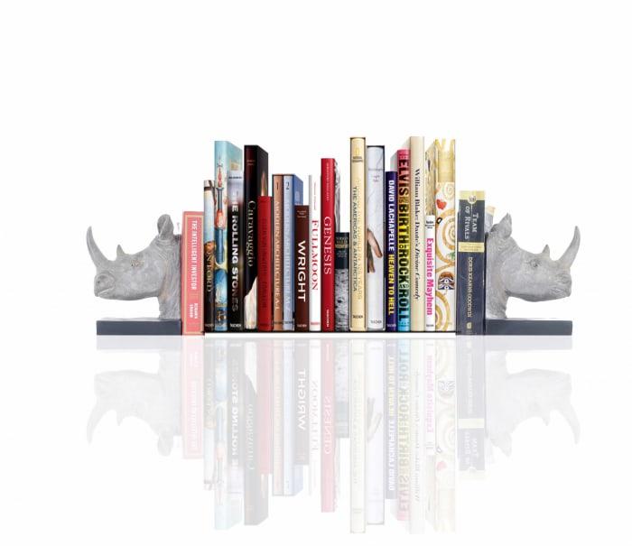 Rhino Bookends