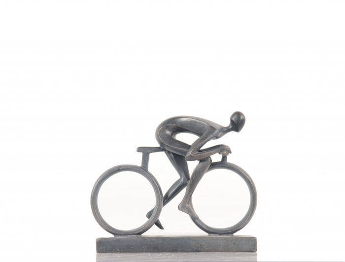 Minimalist Cyclist Cement Finish Accent
