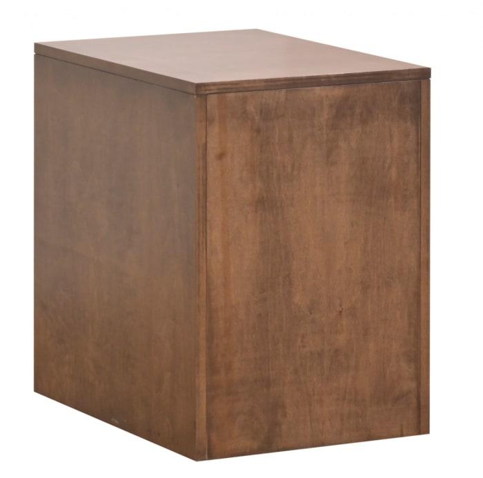 Cappuccino Wood Rolling Door Cabinet