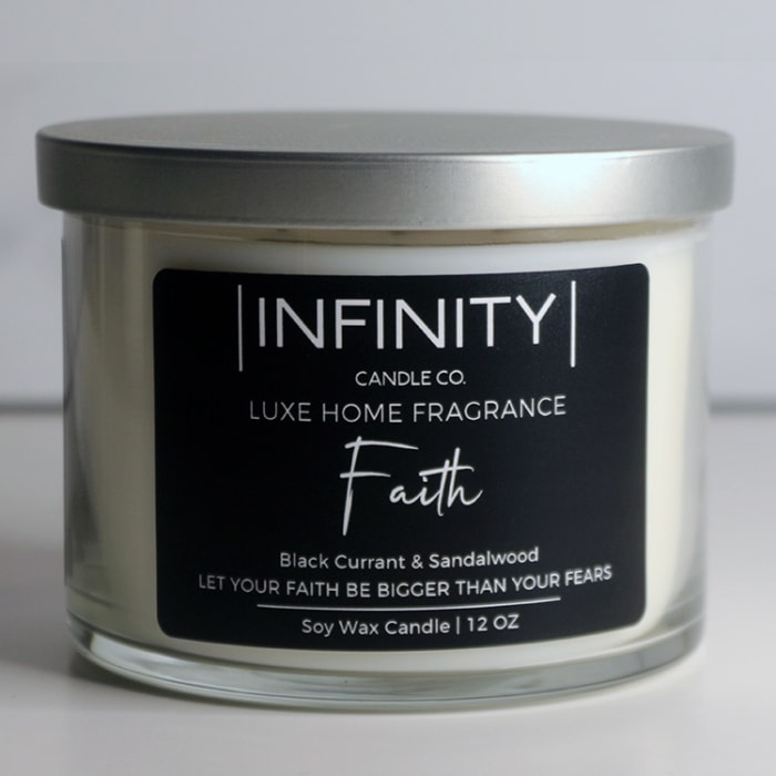 Faith Black Currant & Sandalwood Scented Candle