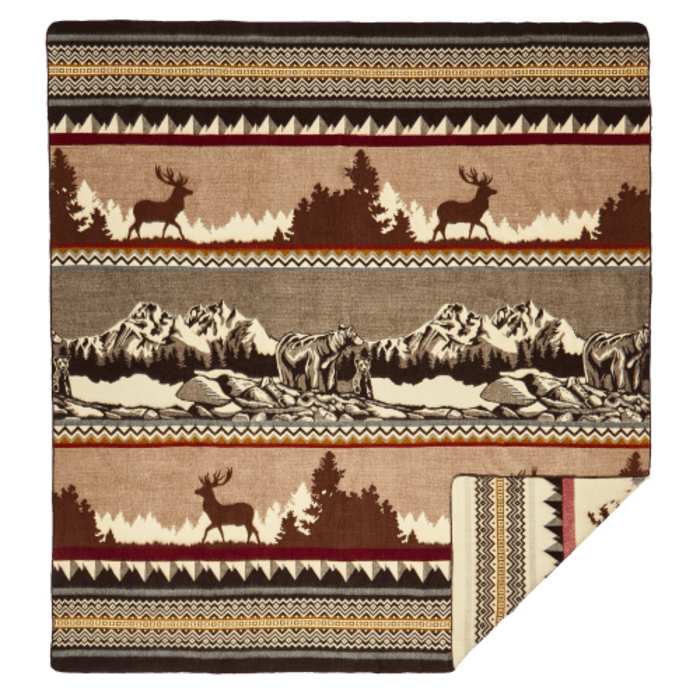 Ultra Soft Red Christmas Handmade Woven Queen Size Blanket