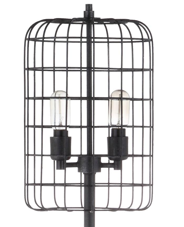 Harley Industrial Black Floor Lamp