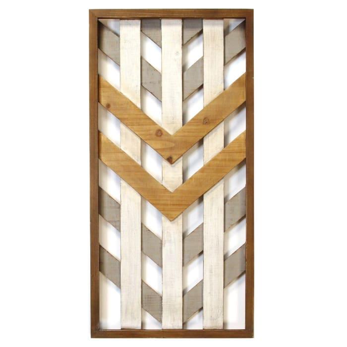 Boho Geometric Wood Framed Wall Accent
