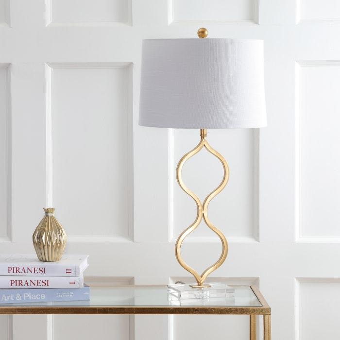 Levi Metal Crystal Table Lamp