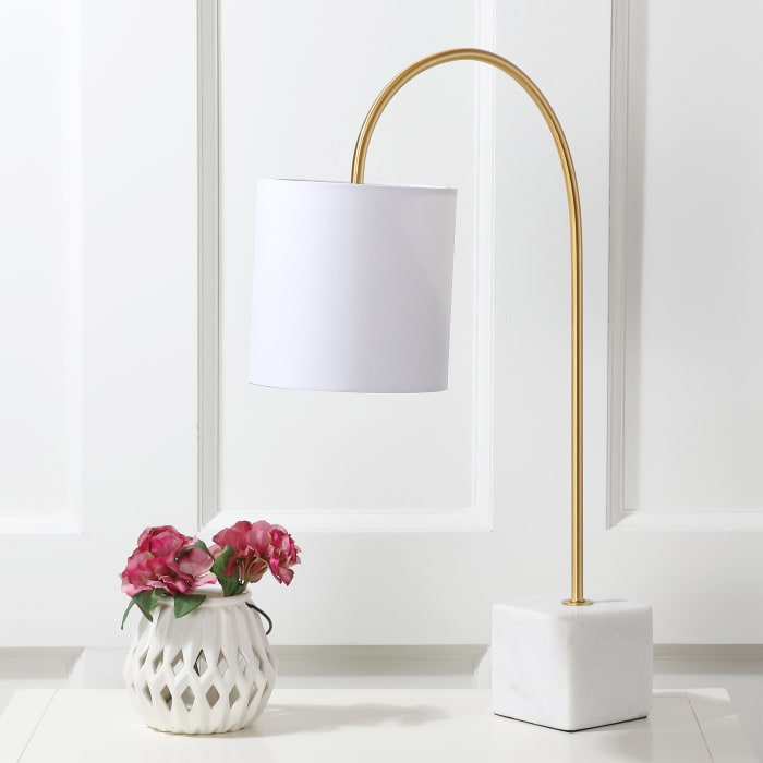 Fisher Marble Brass Table Lamp