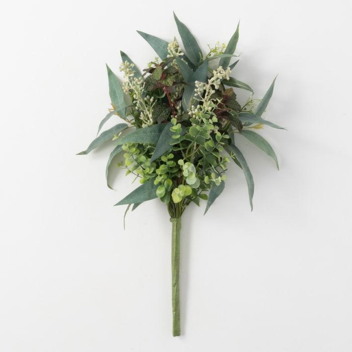Faux Mixed Green Leaf Bush
