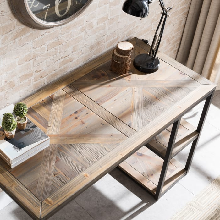 Beckwith Reclaimed Wood Writing Desk