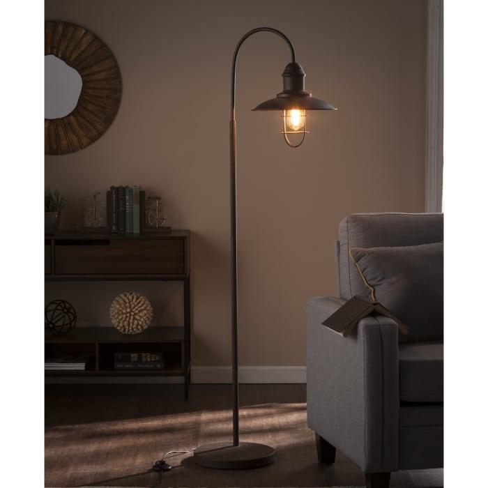 Caged Bell Bronze Floor Lamp