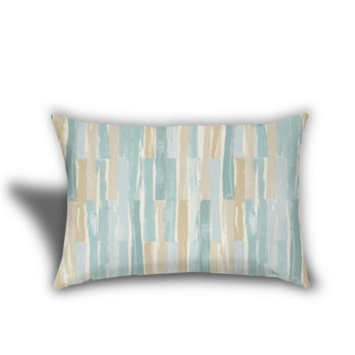 Sahara Desert, Tan, White And Seafoam Set of 3 Outdoor Pillows