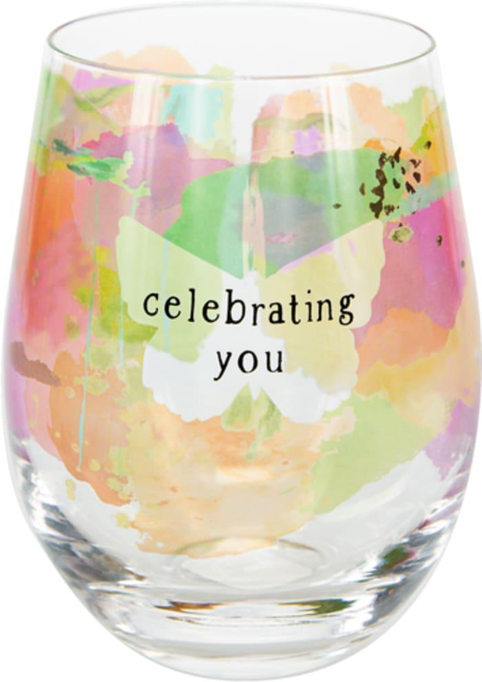 Celebrating You - Stemless Wine Glass