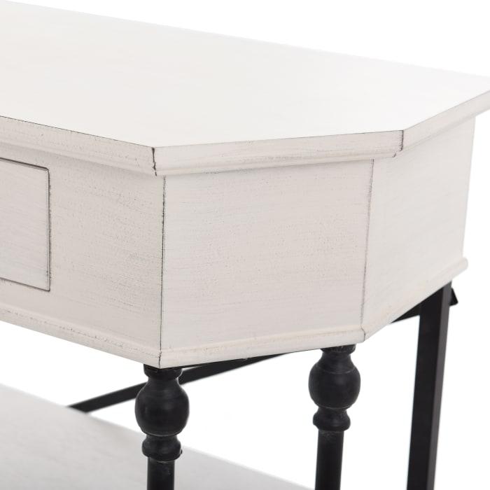 3 Tier Antique White Console Table