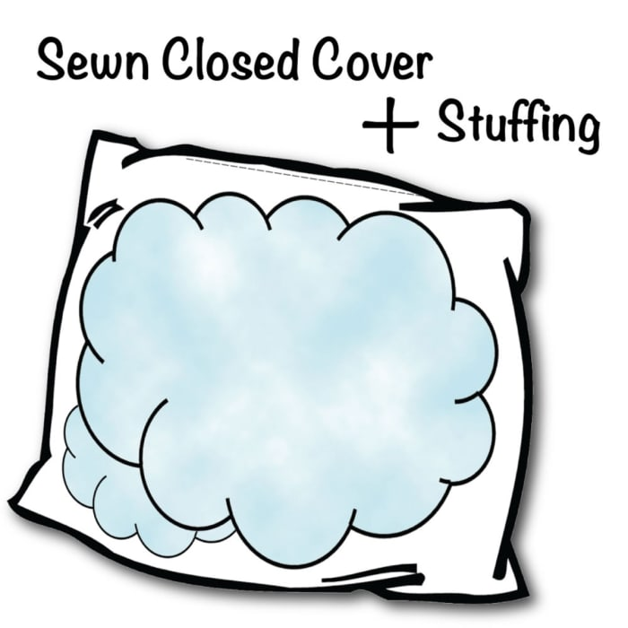Skyline Dark Gray Sewn Closure Outdoor Pillow