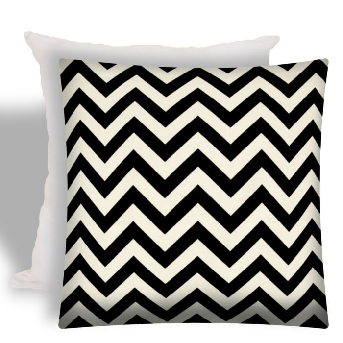 Buzz Black With Removable Cover Outdoor Pillow