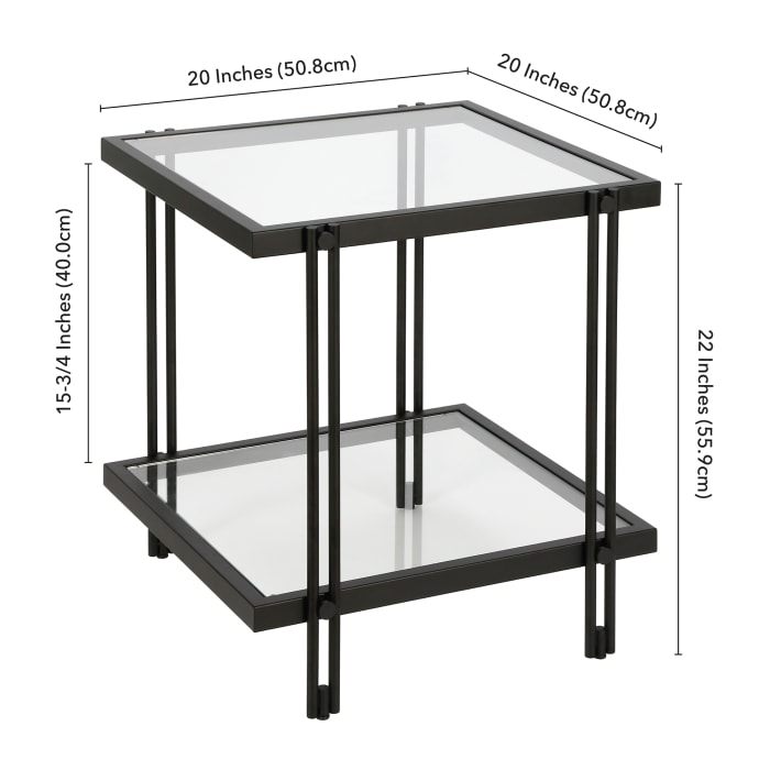 Inez Blackened Bronze Side Table