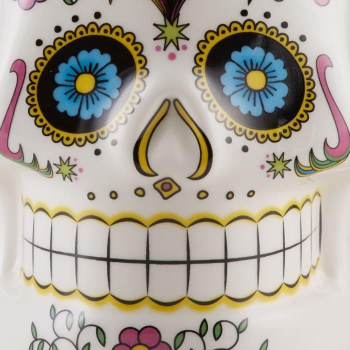 Sugar Skull Ceramic Set of 2 Mugs