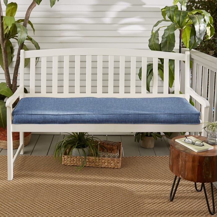 Palm Pattern Corded Outdoor Set of 2 Chair Pads