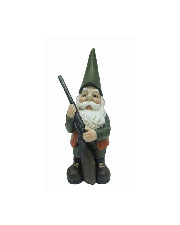 Hunting Gnome Outdoor Sculpture