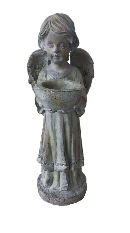 Angel Birdbfeeder Outdoor Sculpture