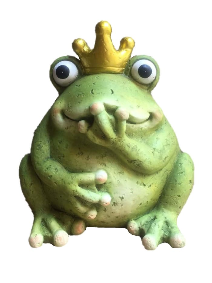 King Frog Outdoor Sculpture