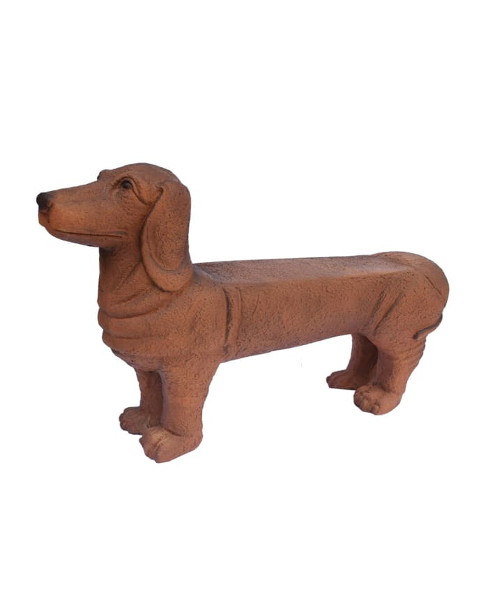 1 Person Dog Bench Outdoor Sculpture